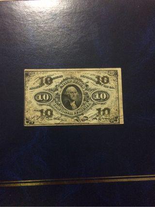 Billete de estados unidos 10 c