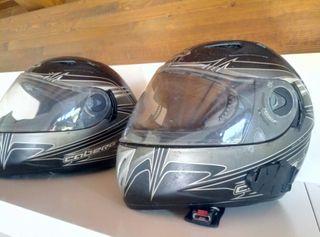 cascos Caberg tallas M y L. 100 los dos