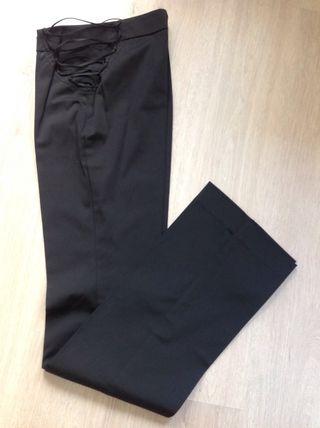 Pantalon MANGO Negro raso talla 34