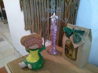 Set muñeca maniqui y flores secas