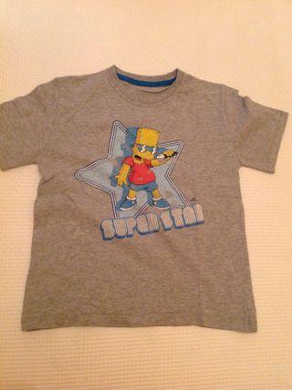 Camiseta Simpson Niño Marks & Spencer Talla 7 8 Años