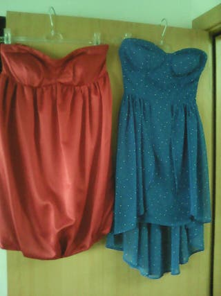 Dos vestidos cortos
