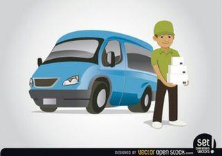 repartidor o transportista