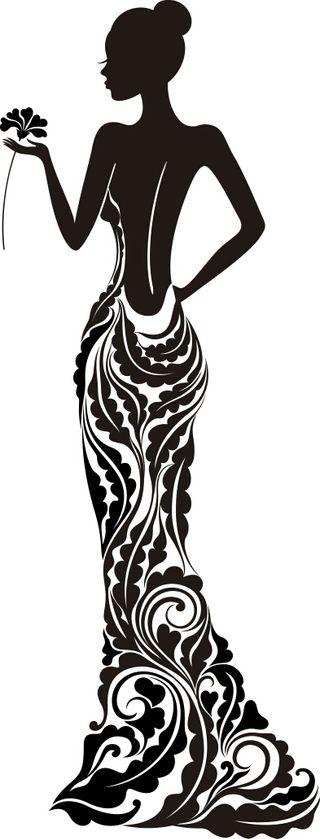 vinilo decorativo silueta vestido