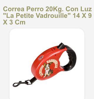 Correa perro con luz, retro, vintage, extensible