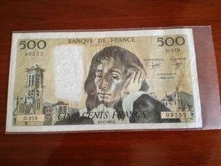 Billete 500 francos franceses