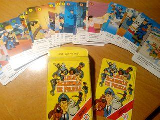 juego de cartas Loca Academia de Policía años 90