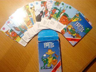 juego de cartas los Fruitis 1990