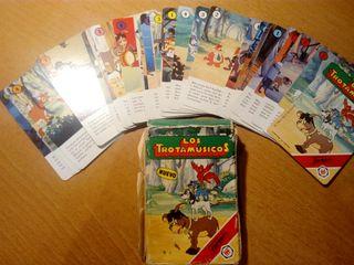 juego de cartas los Trotamúsicos años 90