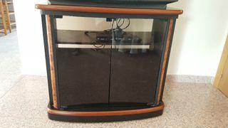 mueble televisión madera