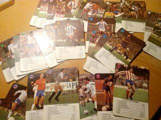 juego de cartas ases del fútbol año 1982