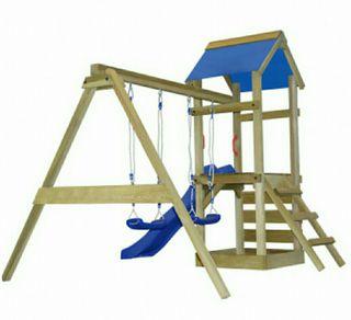 Parque infantil, tobogán, columpio, varios modelos