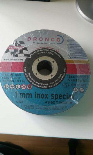 Discos de corte para inox y para aluminio.