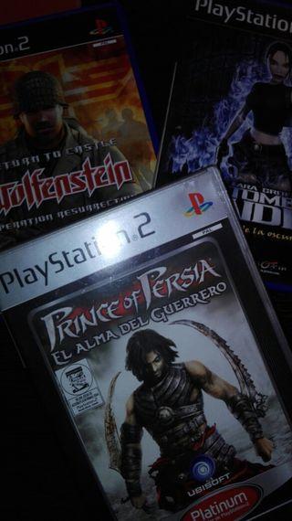 Pack acción PS2. Prince of Persia y Wolfenstein