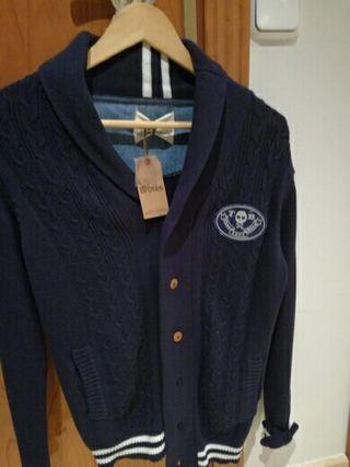 chaqueta azul nueva niño talla 14-16