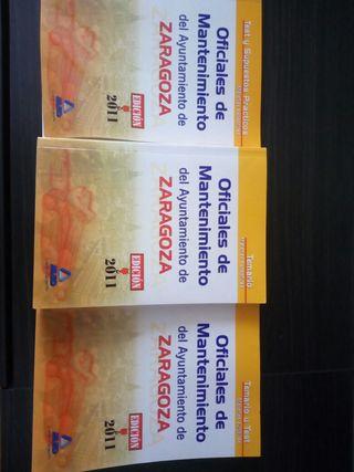libros oficial mantenimiento ayuntamiento zaragoza
