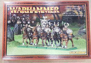 Warhammer Bárbaros del Caos a caballo de METAL
