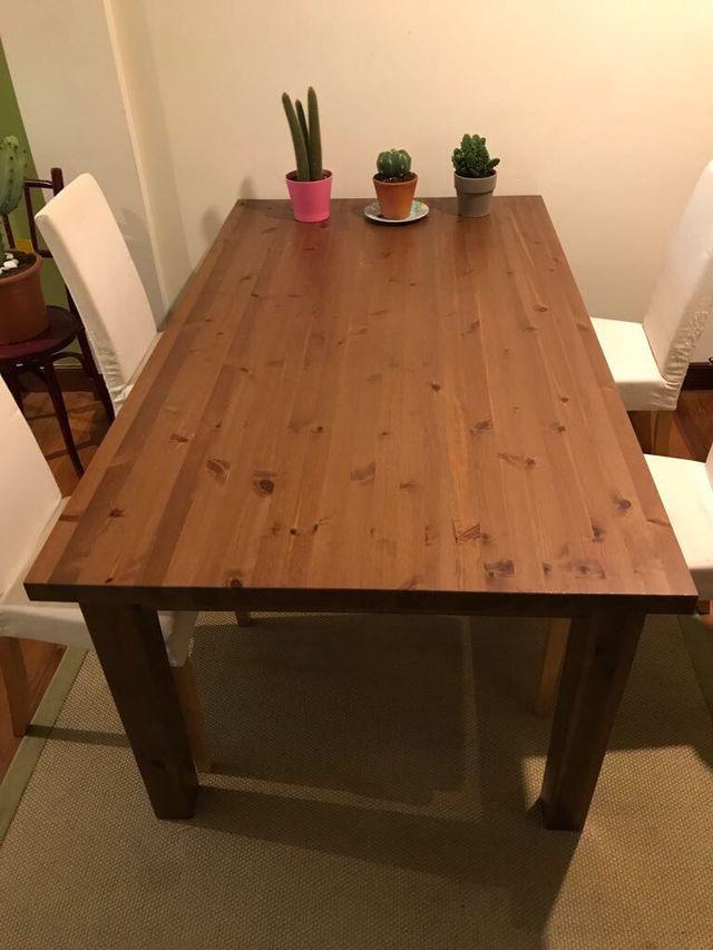 Mesa comedor madera maciza de segunda mano por 120 € en Bilbao en ...