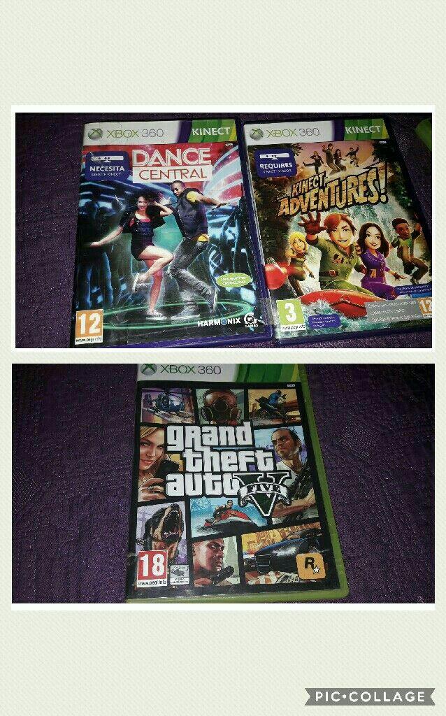 Xbox 360 + 14 Juegos + Mando de conducción+ Kinect