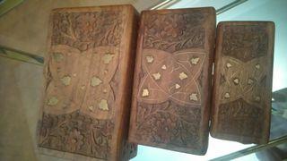 cajas talladas a mano