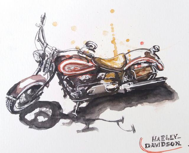 Dibujo De Moto En Acuarela Rebajas De Segunda Mano Por 30