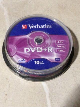 DVD+R pack 10 verbatim