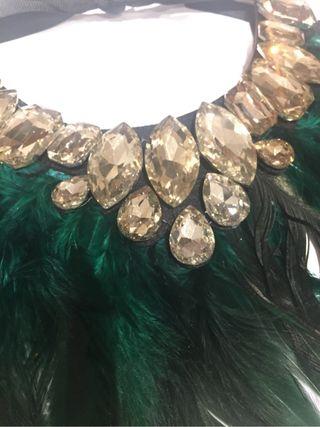 Collar plumas