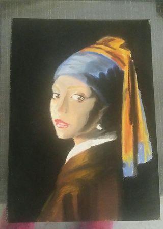 Dibujo del cuadro del pintor Vermeer!!!