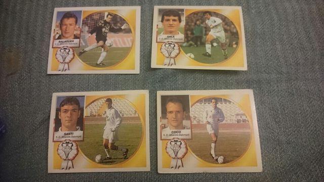 4 Cromos Albacete Liga 94/95