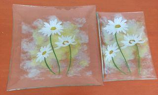 Fuentes de cristal decorado
