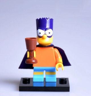 minifigura tipo lego Bart Simpson Super héroe