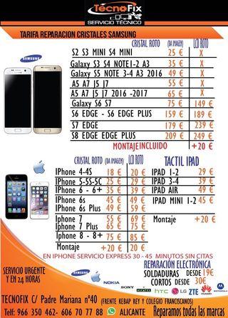 Cambio de cristal Iphone en 30 minutos desde 19€