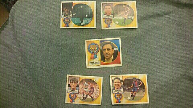 5 cromos FC Barcelona liga 94/95