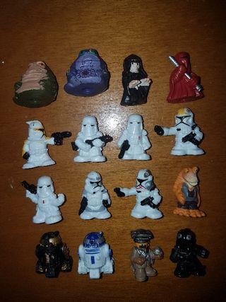 figuras pvc goma flexible Star Wars pintadas mano
