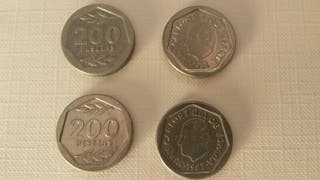 Monedas 200 pesetas 1986 y 1987