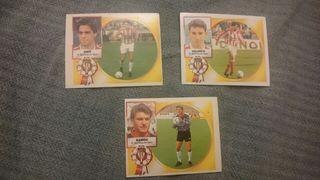 3 Cromos fútbol Sporting Gijón liga 94/95
