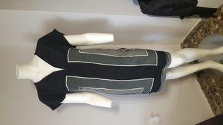 vestido mujer negro y blanco marca OCTOBER talla M