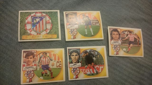 Cromos Atlético de Madrid liga 94/95