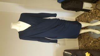 vestido mujer azul mango talla L