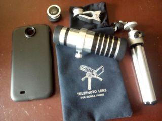 teleobjetivo para móvil