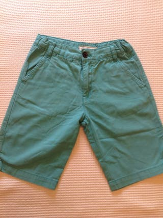 Pantalon Corto Niño Zara Azul Talla 8 9 10 Años