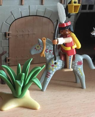 Playmobil indio con planta