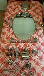 Lote juego apliques de baño vintage