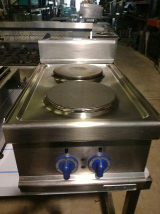 Cocina industrial dos fuegos eléctrica
