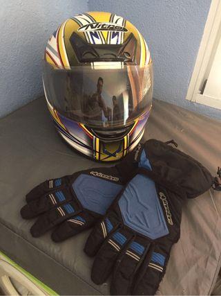 Vendo casco y guantes de moto