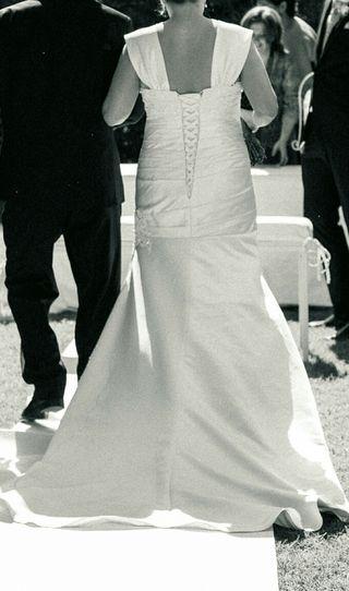 vestido de novia de segunda mano en dos hermanas en wallapop