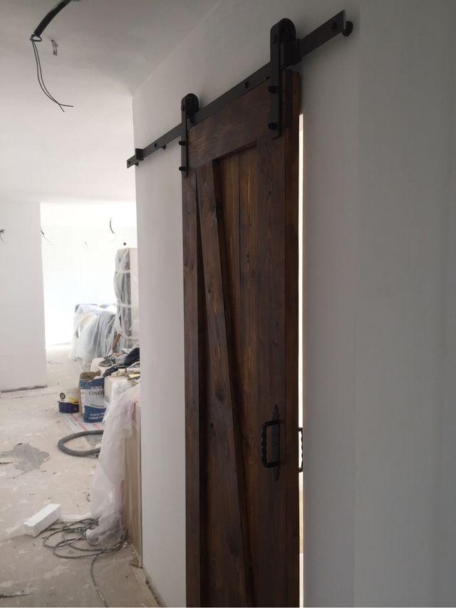 Puerta corredera de madera de segunda mano en madrid en for Puertas de madera exterior de segunda mano
