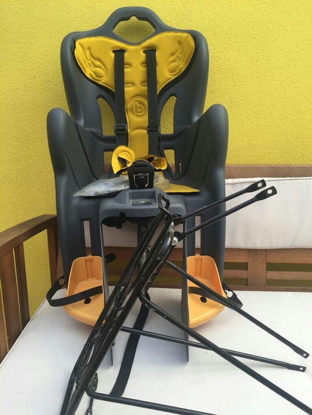 silla bicicleta niños+soporte
