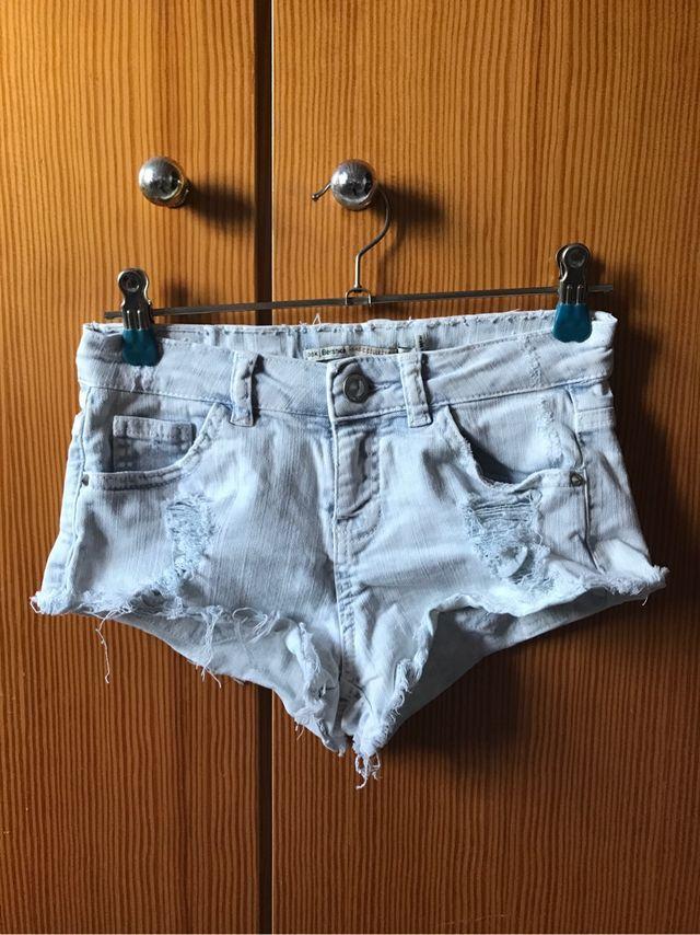 selección premium af684 be893 Pantalones cortos vaquero Bershka de segunda mano por 6 € en ...