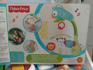 Móvil musical cuna FISCHER PRICE 3 en 1